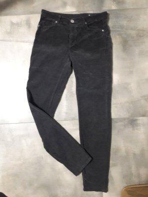 Raffaello Rossi Pantalón de pana gris oscuro