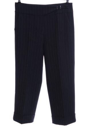 Raffaello Rossi Pantalone culotte nero-grigio chiaro motivo a righe