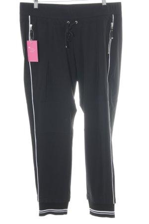 Raffaello Rossi Pantalone a vita bassa nero-bianco stile casual