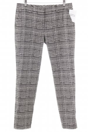 Raffaello Rossi Peg Top Trousers black-oatmeal abstract pattern business style
