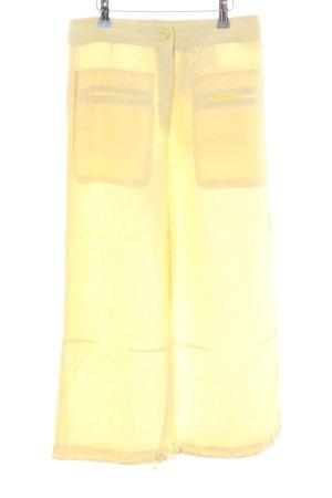 Raffaello Rossi Pantalón de lino amarillo pálido look casual