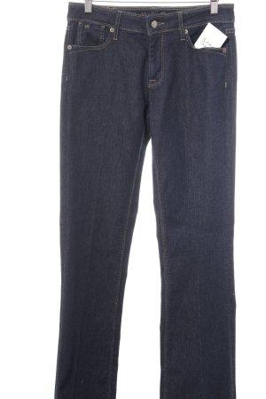 Raffaello Rossi Marlene jeans donkerblauw-camel casual uitstraling