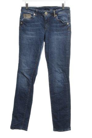 Raffaello Rossi Tube jeans staalblauw casual uitstraling