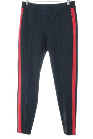 Raffaello Rossi Pantalón elástico negro-rojo estilo «business»