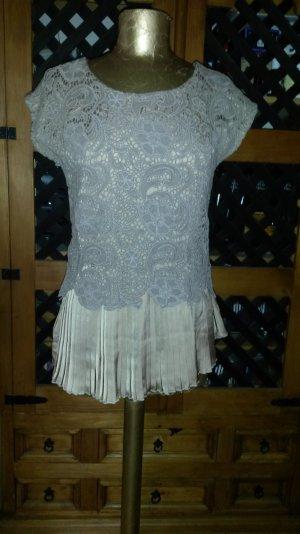 Raffinierte Bluse aus einem Material-Mix !!! NEU !!!!