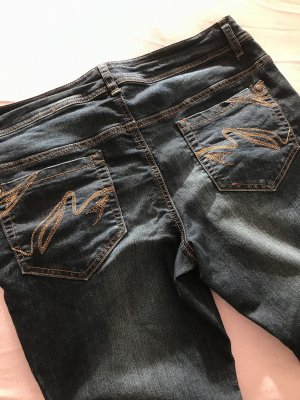 AJC Stretch Jeans dark blue-bronze-colored