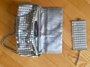 raffinierte Miss Sixty Tasche mit Silberplättchen + Armband