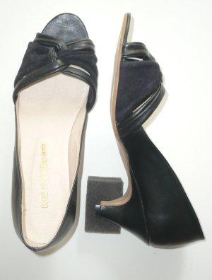 Raffinierte Sandalette aus Leder, Peeptoe, Gr. 41, Kauf Dich Glücklich, schwarz