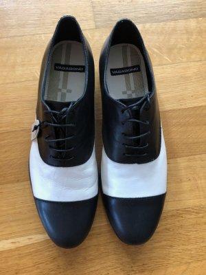 Raffinierte Schuhe schwarz/weiß - Gr. 40 - NEU