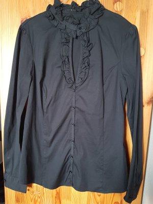 Raffinierte schwarze Bluse