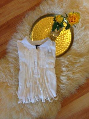 Raffinierte weiße Festival-Bluse mit Fransen von Warehouse