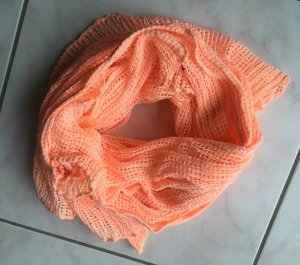 Zara Écharpe en tricot saumon-abricot coton