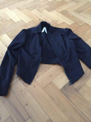 Raffinierter schwarzer Kurz-Blazer mit tollen Details, summum, Gr. 38