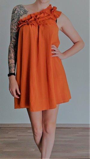 H&M Abito monospalla arancione scuro Poliestere