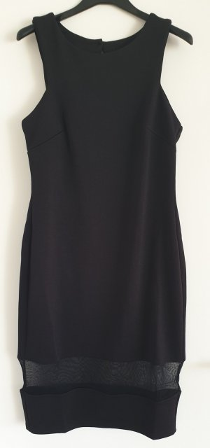 Raffiniertes Kleid, Cut Out, mit Netz-Einsatz, Gr. L