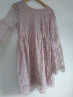 H&M Divided Robe empire vieux rose polyester
