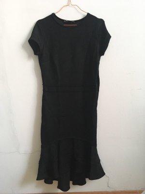 Zara Woman Vestido estilo flounce negro