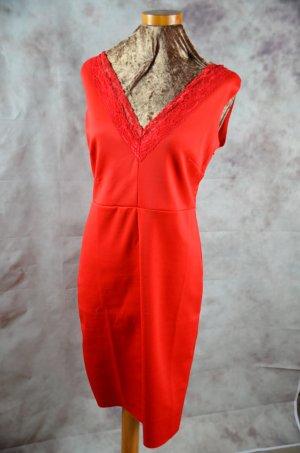 Bodyflirt Jerseyjurk rood Gemengd weefsel