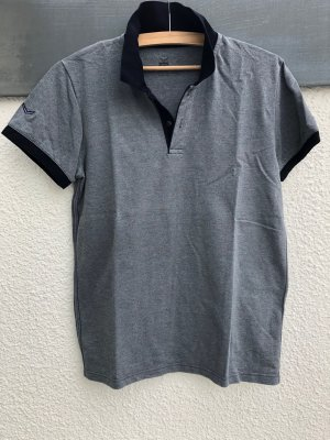 Trigema Polo Shirt slate-gray-dark blue