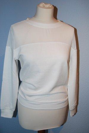 raffiniertes Sweatshirt / Pullover von H&M offwhite Gr. S neu!