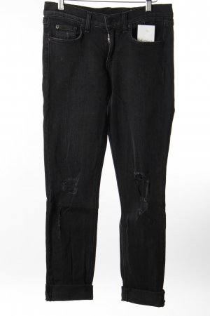 Rag & bone Boyfriend Trousers black casual look