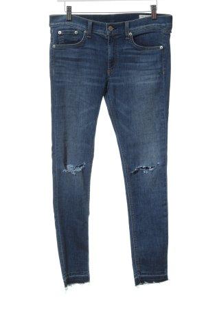 Rag & bone Pantalone Capri blu acciaio stile casual