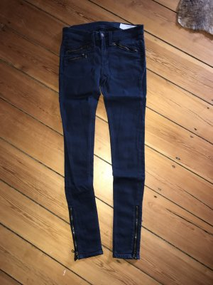 Rag & Bone Jeans Skinny Denim Zips Reißverschlüsse Top Röhre