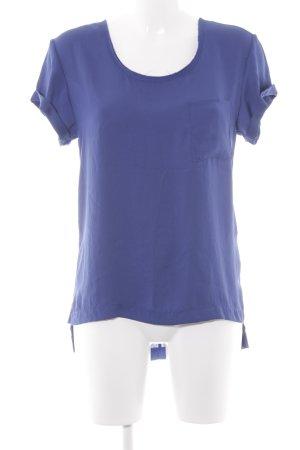 Rag & bone Kurzarm-Bluse blau Schimmer-Optik