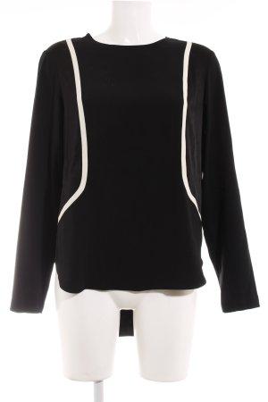 Rag & bone Langarm-Bluse schwarz-wollweiß Elegant