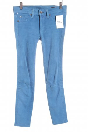 Rag & bone Leather Trousers blue