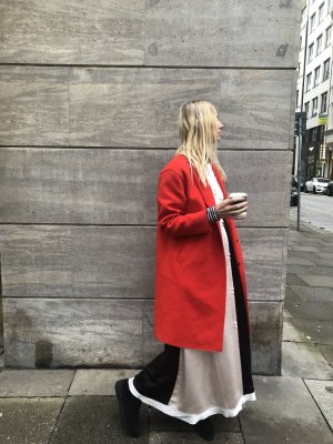 Rag & Bone New York Mantel in Rot Wollmantel 34 Mantel mit Knopfleiste Übergangsmantel