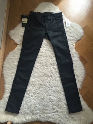 Rag & Bone shoreditch trench Legging w24 34 36 skinny Jeans beschichtet coated