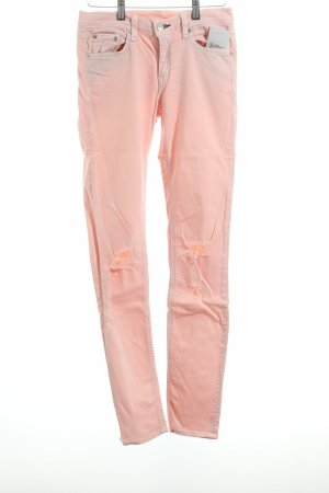Rag & bone Skinny Jeans rosé Destroy-Optik