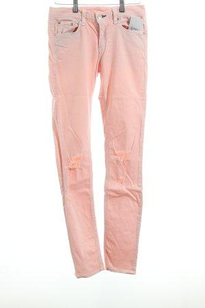 Rag & bone Skinny Jeans rosé Destroy-Optik