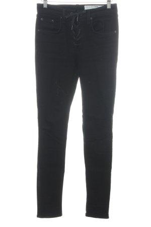 Rag & bone Skinny Jeans schwarz extravaganter Stil