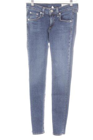 Rag & bone Skinny Jeans stahlblau-blau Jeans-Optik