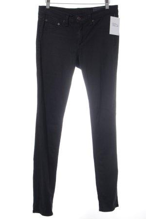 Rag & bone Pantalone elasticizzato nero stile minimalista