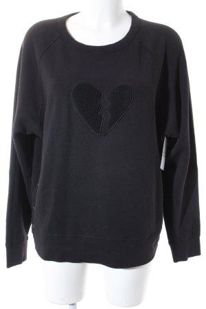 Rag & bone Sweatshirt schwarz Casual-Look
