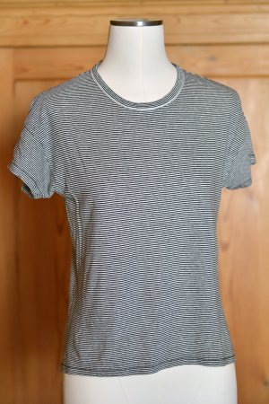 RAG & BONE T-Shirt Leinen Gr.S gestreift Schwarz Weiß Ringelshirt