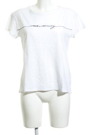 Rag & bone T-Shirt weiß-schwarz Schriftzug gestickt Casual-Look