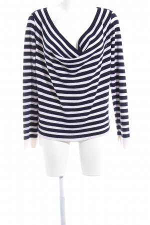 Rag & bone Cowl-Neck Shirt white-dark blue striped pattern casual look