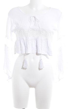 Raga Cropped shirt wit Boho uitstraling