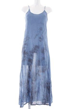 Raga Midikleid stahlblau-dunkelblau Batikmuster Beach-Look