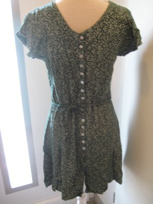 Ragazza Blümchen Kleid grün weiss Gr S