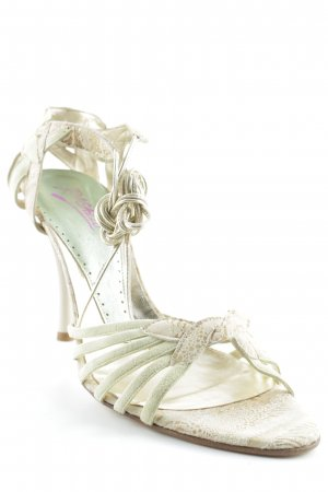 Ragazzo High Heel Sandal pale green-cream animal pattern elegant