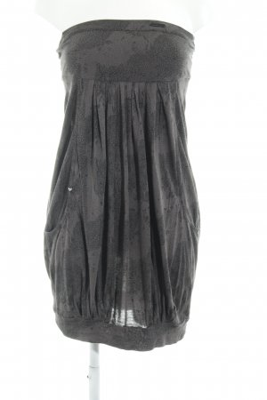 Ragwear Bandeau Dress grey-black abstract pattern casual look