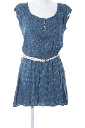 Ragwear Robe bandeau blanc-bleu acier motif de tache style décontracté