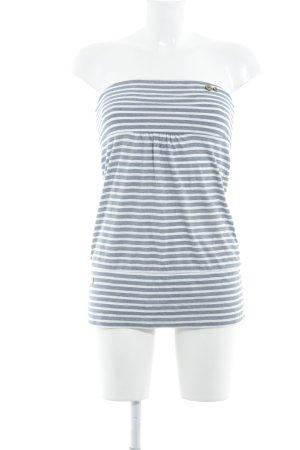 Ragwear Bandeautop weiß-dunkelblau Streifenmuster Casual-Look