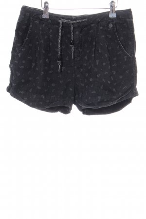 Ragwear Hot Pants schwarz grafisches Muster Casual-Look