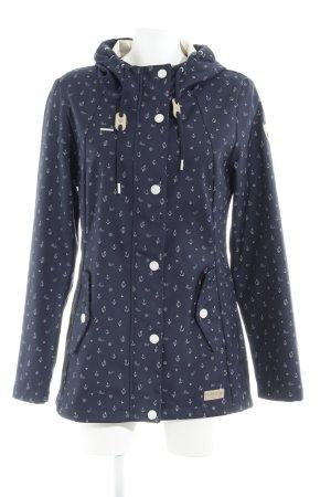 Ragwear Giacca con cappuccio blu scuro-grigio chiaro motivo grafico stile casual